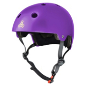 Triple 8 Brainsaver EPS Liner Mens Skate Helmet, Purple Glossy, medium