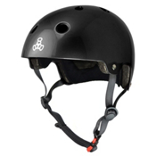 Triple 8 Brainsaver EPS Liner Mens Skate Helmet, Black Glossy, medium