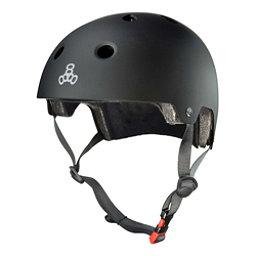 Triple 8 Brainsaver EPS Liner Mens Skate Helmet 2017, All Black Rubber, 256