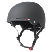 Triple 8 Gotham EPS Liner Mens Skate Helmet, Black Rubber, medium