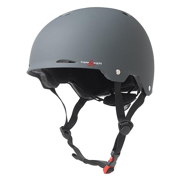 Triple 8 Gotham EPS Liner Mens Skate Helmet, Gun Matte Rubber, 600
