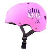Triple 8 Little Tricky EPS Liner Youth Skate Helmet 2016, Pink Rubber, medium