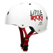 Triple 8 Little Tricky EPS Liner Youth Skate Helmet, White Glossy, medium
