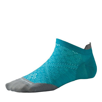 SmartWool PHD Run Ultra Light Micro Womens Socks, White, viewer