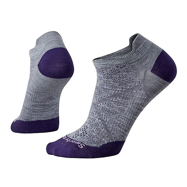 SmartWool PHD Run Ultra Light Micro Womens Socks, Light Gray, 600