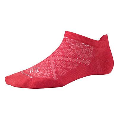SmartWool PHD Run Ultra Light Micro Womens 15 Socks, Hibiscus, viewer