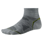 SmartWool PhD Outdoor UL Mini Socks, Light Gray, medium