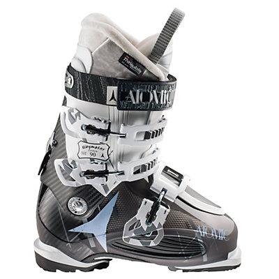Atomic Waymaker Carbon 90 W Womens Ski Boots, Black Translucent-White, viewer