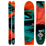 Salomon Q-115 Skis, Black-Red-Green, medium