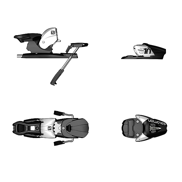Salomon L10 Ski Bindings, Black-White, 600