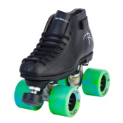 Riedell Cobalt Speed Roller Skates, Black, medium