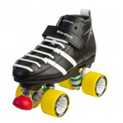 Riedell 265 Vandal Derby Roller Skates, Black, medium