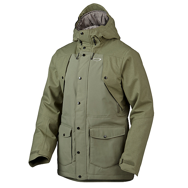 Oakley Merkava Mens Insulated Snowboard Jacket, Worn Olive, 600