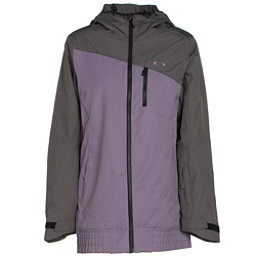 Oakley Quebec Womens Insulated Snowboard Jacket, Purple Sage, 256