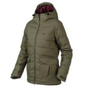 Oakley Sierra Down Womens Insulated Snowboard Jacket, Worn Olive, medium