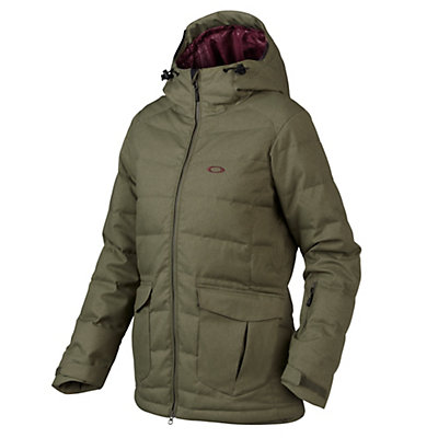 Oakley Sierra Down Womens Insulated Snowboard Jacket, Worn Olive, viewer