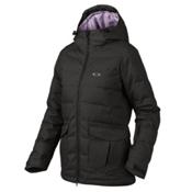 Oakley Sierra Down Womens Insulated Snowboard Jacket, Jet Black, medium