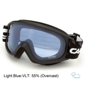 Carrera Arthemis Womens Goggles, Black Matte Diamonds-Light Blu, medium
