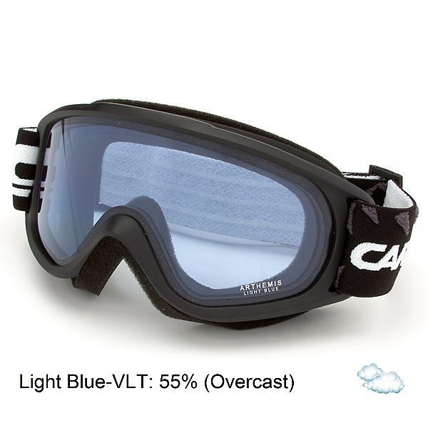 Carrera Arthemis Womens Goggles, Black Matte Diamonds-Light Blu, 600