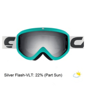 Carrera Eclipse Goggles, Petrol Matte Stripes-Silver Flash, medium