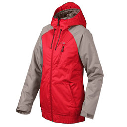 Oakley Code Womens Insulated Snowboard Jacket, Red Line, 256