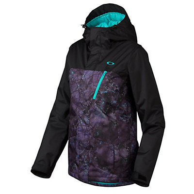 Oakley Kilo Womens Insulated Snowboard Jacket, Helio Purple Forest, viewer