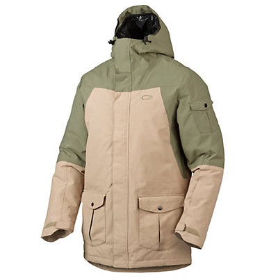 Oakley B52 Down Mens Insulated Snowboard Jacket, Worn Olive, viewer