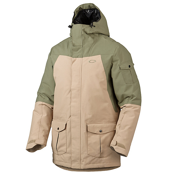 Oakley B52 Down Mens Insulated Snowboard Jacket, Worn Olive, 600