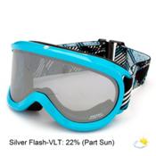 Carrera Skermo OTG Goggles, Light Blue Shiny-Silver Flash, medium