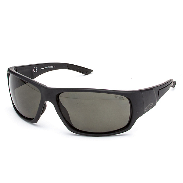 Smith Discord Polar Sunglasses, Matte Black-Polar Gray Green, 600