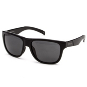 Smith Lowdown Slim Polarized Sunglasses, Black-Polarized Gray, medium