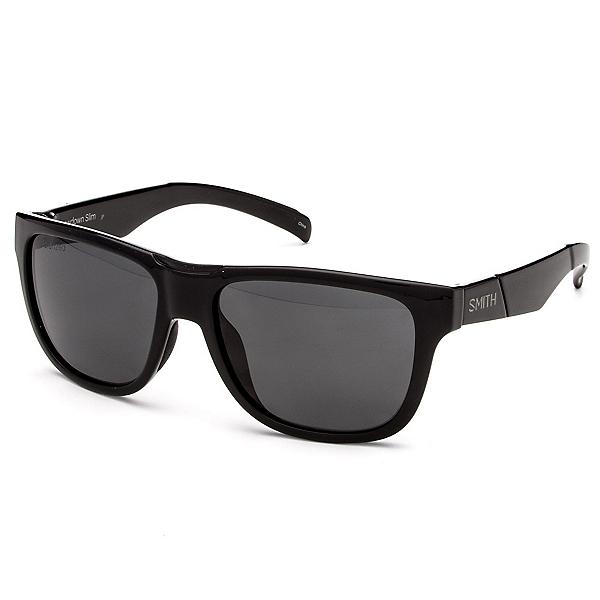 Smith Lowdown Slim Polarized Sunglasses, Black-Polarized Gray, 600