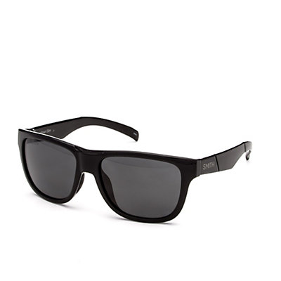 Smith Lowdown Slim Polarized Sunglasses, Black-Polarized Gray, viewer
