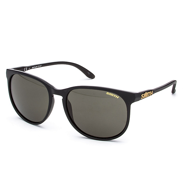 Smith Mt. Shasta Polarized Sunglasses, Matte Black-Polar Gray Green, 600