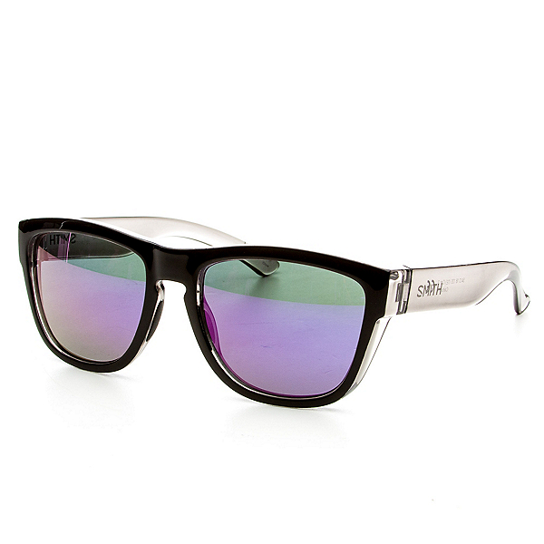 Smith Clark Sunglasses, Black Smoke-Purple Sol X, 600