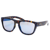 Smith Clark Sunglasses, Flecked Blue Tortoise-Blue Flash Mirror, medium