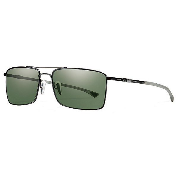 Smith Outlier TI ChromaPop Sunglasses, Matte Black-Polar Gray Green ChromaPop, 600