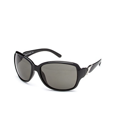 SunCloud Weave Sunglasses, Black-Gray Polarized, viewer