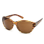 SunCloud Twilight Sunglasses, Tortoise Stripe-Brown Polarized, medium