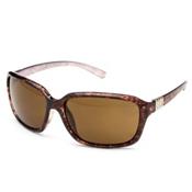 SunCloud Blossom Sunglasses, Tortoise Backpaint-Brown Polarized, medium