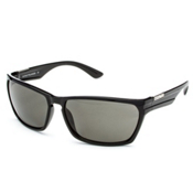 SunCloud Cutout Sunglasses, Black-Gray Polarized, medium