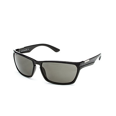 SunCloud Cutout Sunglasses, Black-Gray Polarized, viewer