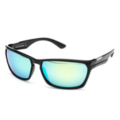 SunCloud Cutout Sunglasses, Black-Green Mirror Polarized, medium