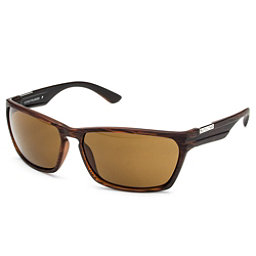 SunCloud Cutout Sunglasses, Burnished Brown-Brown Polarized, 256