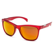 SunCloud Doubletake Sunglasses, Matte Red-Red Mirror, medium