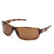 SunCloud Ricochet Sunglasses, Brown Stripe-Brown Polarized, medium