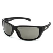 SunCloud Milestone Sunglasses, Matte Black-Gray Polarized, medium