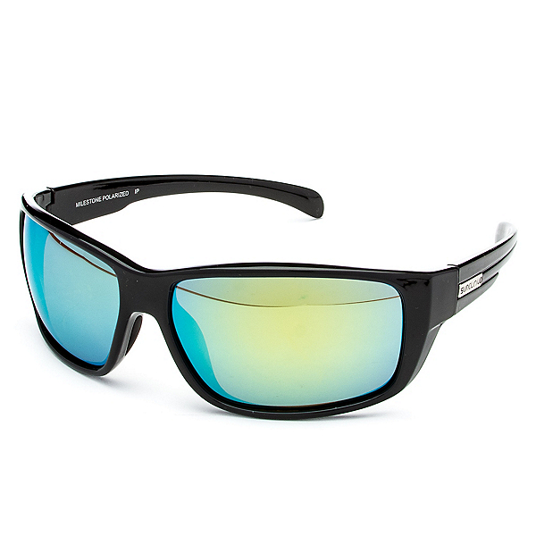SunCloud Milestone Sunglasses, Black-Green Mirror Polarized, 600
