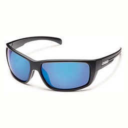 SunCloud Milestone Sunglasses, Matte Black-Blue Mirror Polarized, 256
