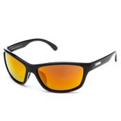 SunCloud Rowan Sunglasses, Black-Red Mirror, medium